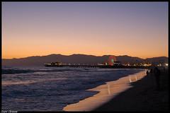 DSC_0039 (Sam6644) Tags: california sunset mountains water la pier sand waves santamonica southern pacificocean socal ferriswheel santamonicabeach losangeleas samgreene