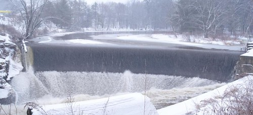 Merrimack Dam -- Winter panorama