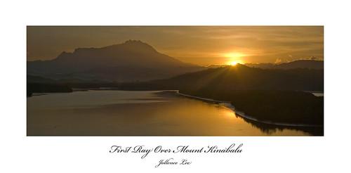 First Ray Over Mount Kinabalu