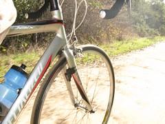 Road bike on dirt Panda