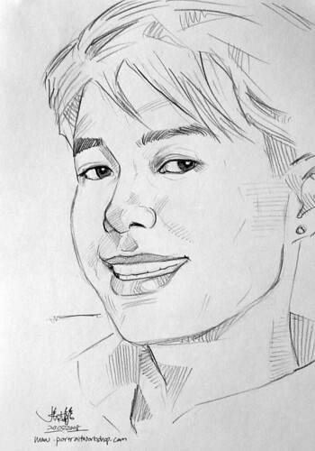 guy portrait pencil sketch 2