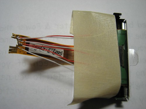 Soldering to the ribbon cable