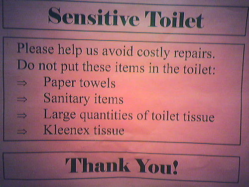 Sensitive Toilet
