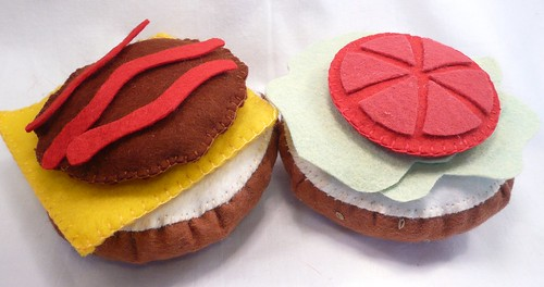 Felt Hamburger3