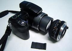 Lente Invertida na Sony H9 - Esquema e Descrio + Fotos de montagem (Jorge L. Gazzano) Tags: