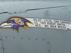 Dan Marino is now a Baltimore Raven (Katie Foo) Tags: aircraft military airshow jsoh andrewsairforcebase