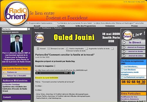Radio orient 14 mai Concilier vie prof et perso