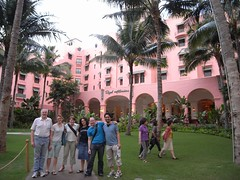 Hotel hopper group at the Royal Hawaiian