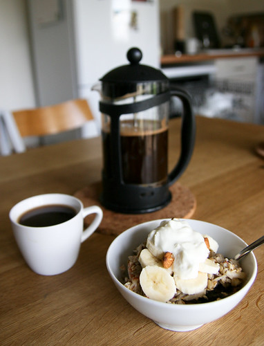 Bircher and coffee
