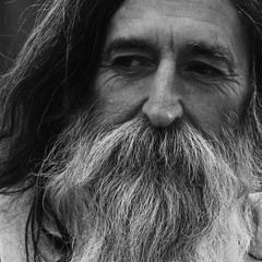 Master craftsman (Gaby.Bernstein) Tags: portrait bw hairy man male face beard telaviv gaby longhair mustache craftsman bernstein bernsteingaby gabybernstein