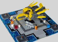 Devilfin (The Grandpappy) Tags: lego diorama swoosh starfighter
