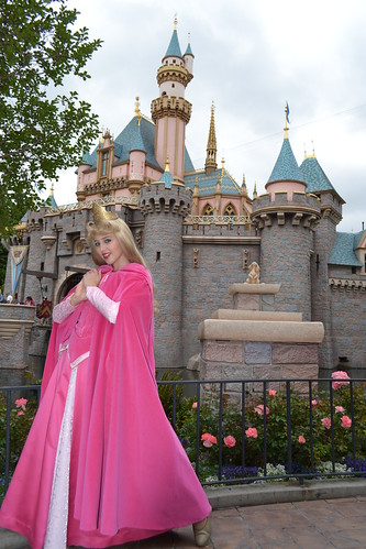 Meeting Aurora at Sleeping Beauty Castle