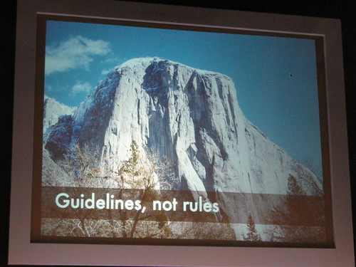 Guidelines, not rules
