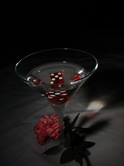 Lucktini with Rose #4 (K. A. Lewis) Tags: life stilllife dice rose still martini lucky7 assignment2 remotecapture canons2is wiltedrose art314 lucktini