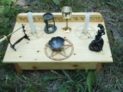 Wicca Pagan Altar (dragonoak) Tags: wood witch altar pentagram occult wicca pentacle pagan wiccan