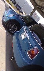OLD&new2 (JeNaN JaMaL) Tags: blue cars car electric back mini front cooper