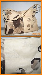 Nahast ja teksakangast kott
