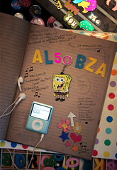 a l 5 o o b z a (✧S) Tags: scrapbook scrapbooking ipod spongebob squarepants a al5oobza be3aita6ee7