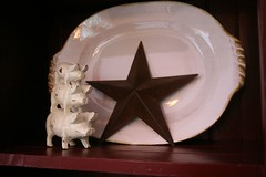 Pigs with Pottery Platter