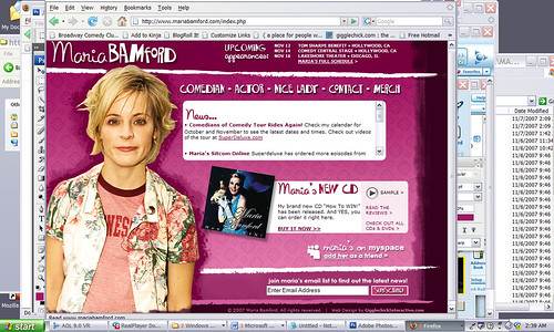 MariaBamford.com --- the new redesign