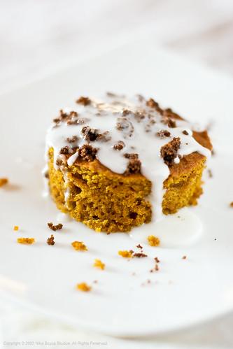 Olive Oil Pumpkin Quick Bread w/glaze
