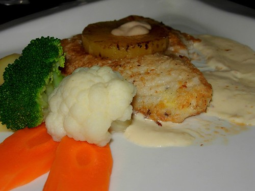 some fish with cream sauce