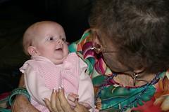 With Great Grandma Pat