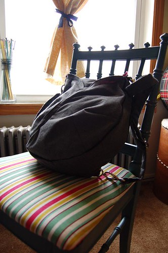 Chair and diaper bag