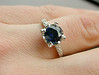blue ring white ring gold ring wedding photo