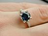 blue ring white ring gold ring wedding photo