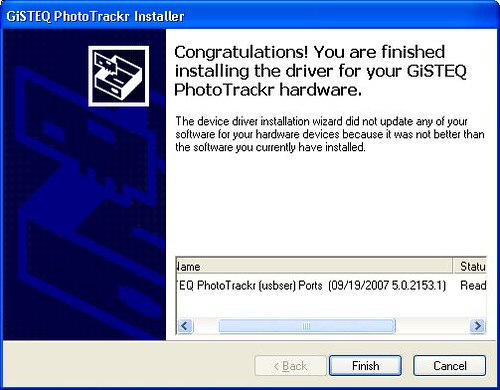 GISTEQ PhotoTrackr Driver