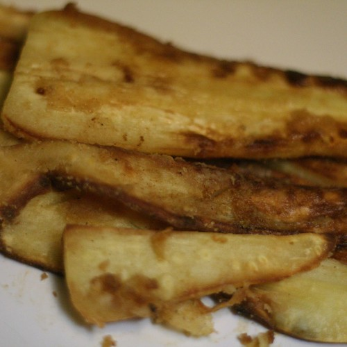 Butter fried parsnip slices