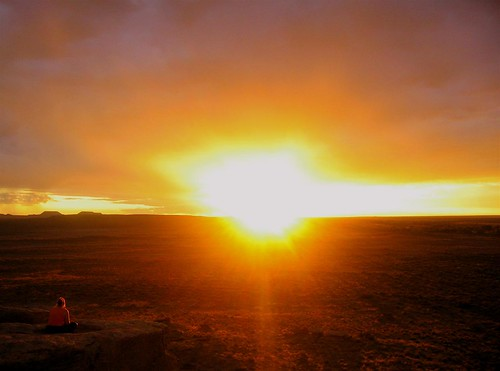 Sunset at Petrified Forest