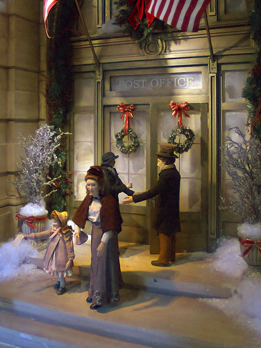 Macy's Department Store, in Saint Louis, Missouri, USA - Window Christmas display 1
