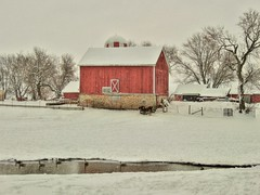 Goose Barn (newagecrap) Tags: winter wisconsin rural barns farms powerslake walworthcounty