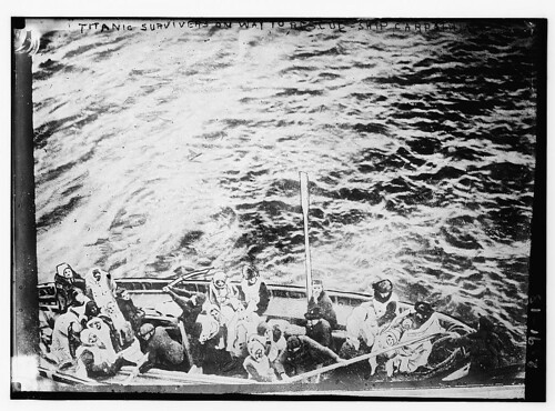 Titanic Lifeboats on the Way to Carpathia