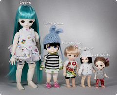 comparation of my tiny dolls by Lindy Meow