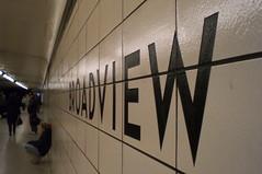 Broadview (Whistler Whatever) Tags: toronto station subway bay metro ttc yorkville broadview