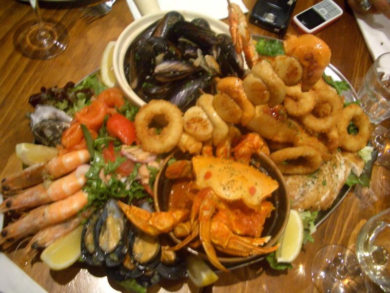 Red Mullet seafood platter
