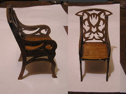 Wood cut Miniature Chair