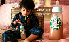 Good Morning (Missy | Qatar) Tags: morning pink blue b boy baby coffee bed cookie bobo starbucks missy miss babybottle qatar pajama mubarak brookie kooki alkhater qatarikid missqatar boolaika hawaalrayyanfav