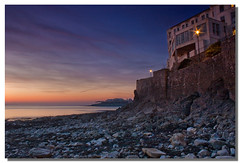 Low tide (Roger.C) Tags: sunset sea sky water clouds canon coast pier rocks tide somerset pebbles 1855mm soe weston 30d birnbeck mywinners platinumphoto aplusphoto irresistiblebeauty platinumheartaward