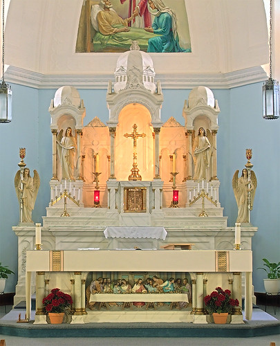 Saint Joseph Roman Catholic Church, in Bonne Terre, Missouri, USA - altar