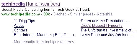 Updated April 2008 Sitelinks