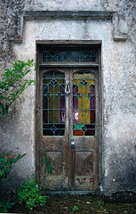 The front door of the old Lynch house ~ (**Mary**) Tags: door old ireland house lynch history home architecture farmhouse wonder stainedglass eire irishhistory georgianarchitecture classicalarchitecture dungarvan cowaterford ballyduff ballyduffdungarvan thelynchhome