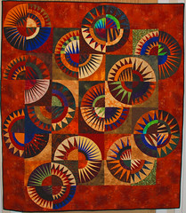 New York Beauty (Jessica's Quilting Studio) Tags: arizona sun art colors phoenix jones colorful warm quilt jessica quilting custom longarm machinequilting pieced gamez longarmquilting jessicabrunnemer