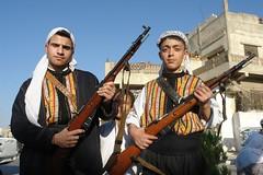 Two rifles (CharlesFred) Tags: peace middleeast syria hospitality hama siria syrian honour  syrien syrie suriye  syrians syrianarabrepublic    hamaspringfestival shoufsyria    welovesyria aljumhriyyahalarabiyyahassriyyah siri
