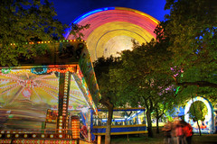 fairground whirlwind (jonstraveladventures) Tags: trees wheel night lights spain fairground ferris galicia santiagodecompostela hdr dantest ns1 alamaybe