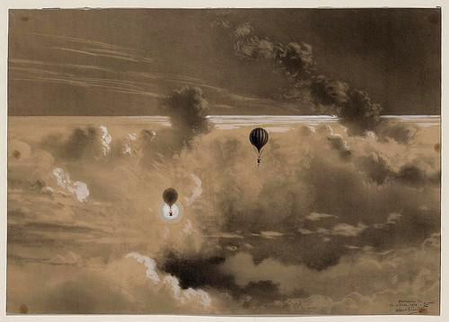 08-Ascensión a 700 metros en septiembre de 1876 en el globo Zénith