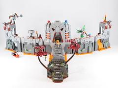 Attack on Ta Koro (MOC set) (Anthony (The Secret Walrus) Wilson) Tags: brickonicle bionicle lego set moc rahkshi mask light battle fortress